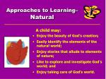 approaches to learning natural