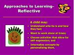 approaches to learning reflective