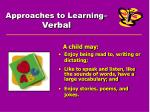 approaches to learning verbal
