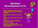 spiritual development of 2s