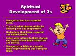 spiritual development of 3s