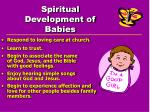 spiritual development of babies