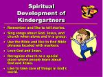 spiritual development of kindergartners