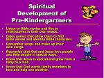 spiritual development of pre kindergartners