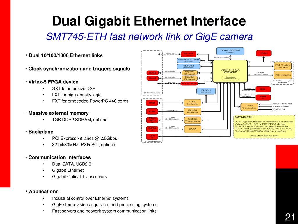 Dual Gigabit Ethernet Interface