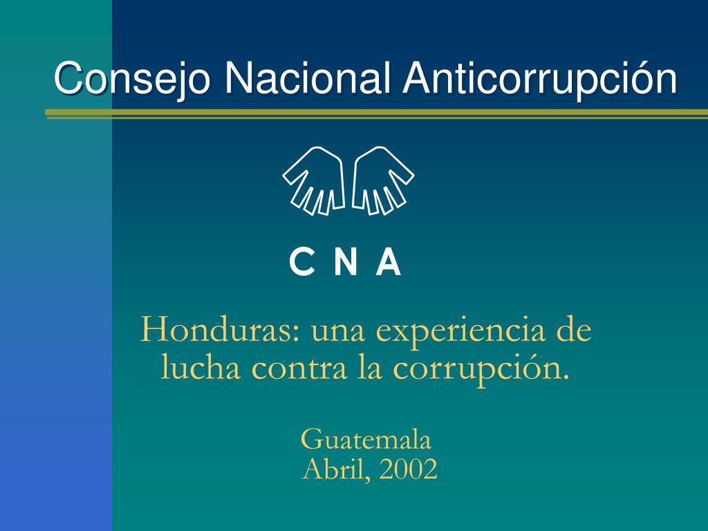 consejo nacional anticorrupci n l.