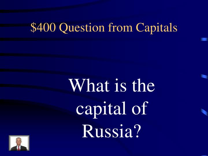 $400 Question from Capitals