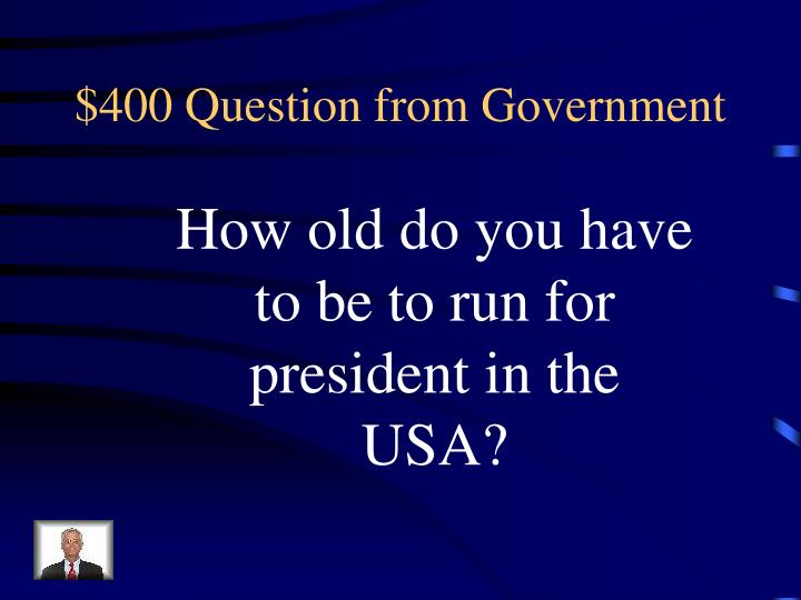 $400 Question from Government