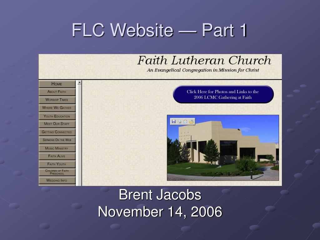 flc website part 1 l.