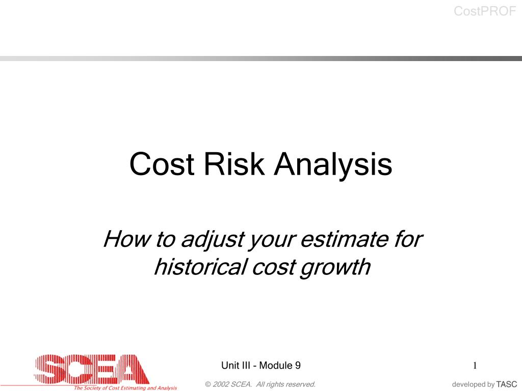Cost Risk Analysis