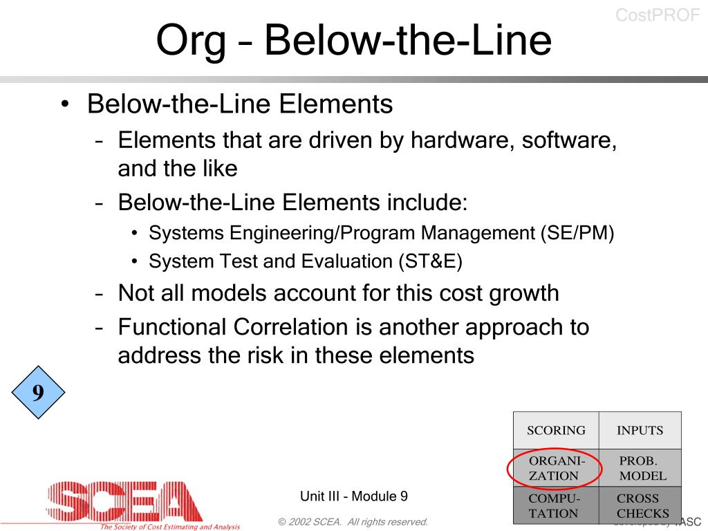 Org – Below-the-Line