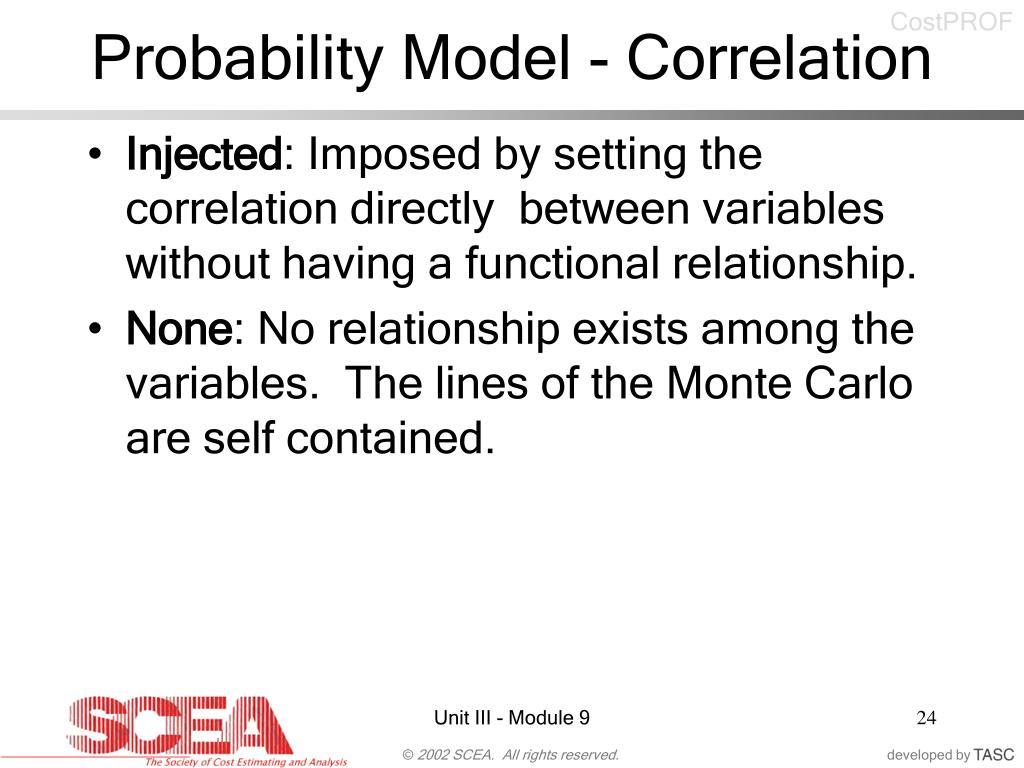 Probability Model - Correlation
