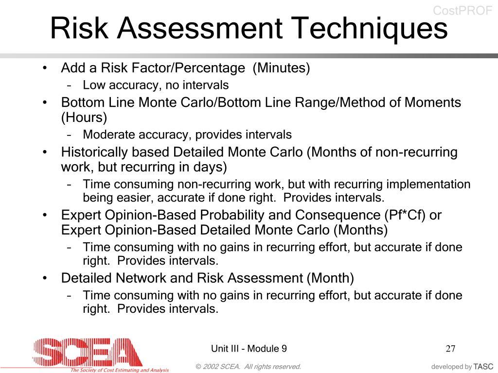Risk Assessment Techniques