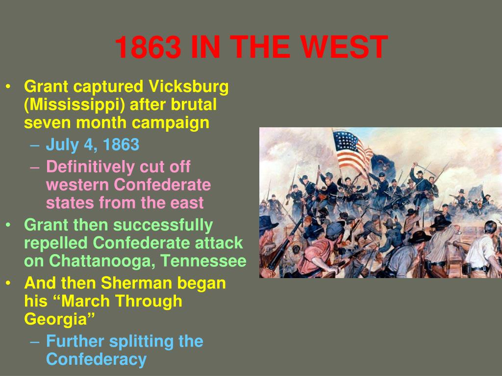 1863 IN THE WEST