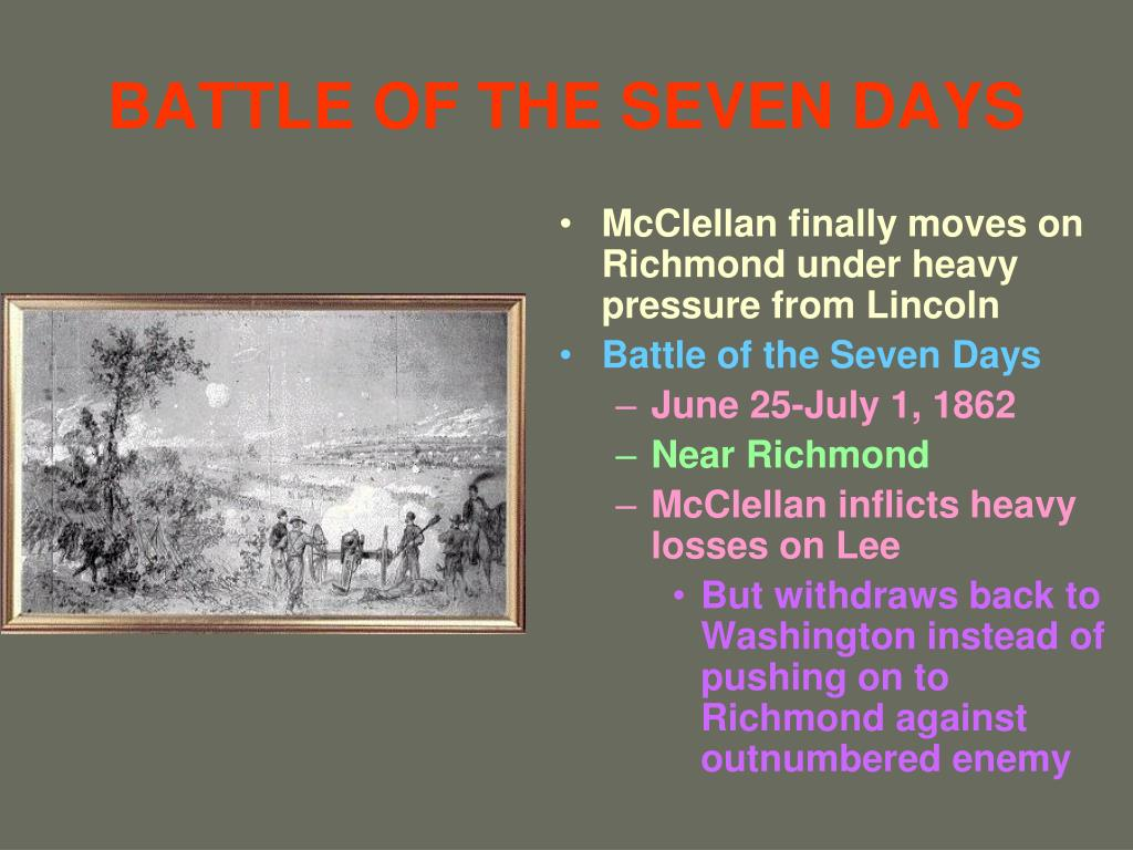 BATTLE OF THE SEVEN DAYS