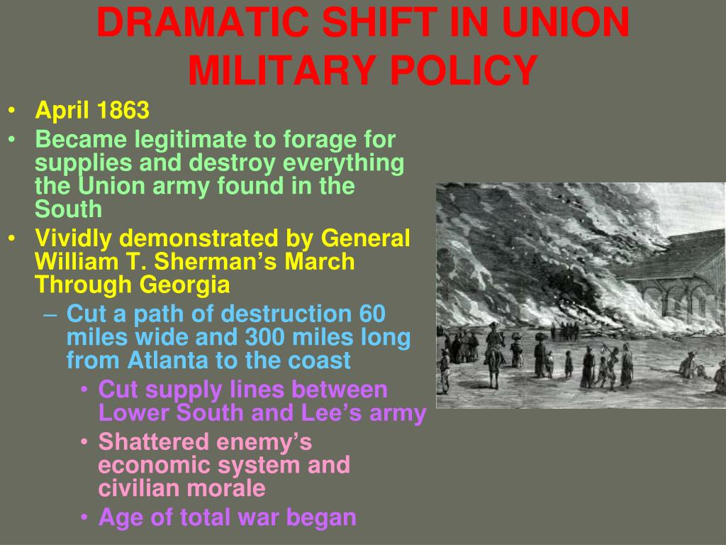 DRAMATIC SHIFT IN UNION MILITARY POLICY