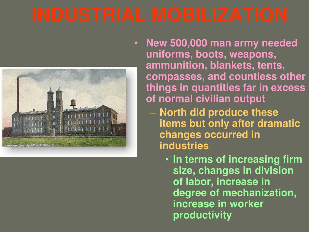 INDUSTRIAL MOBILIZATION
