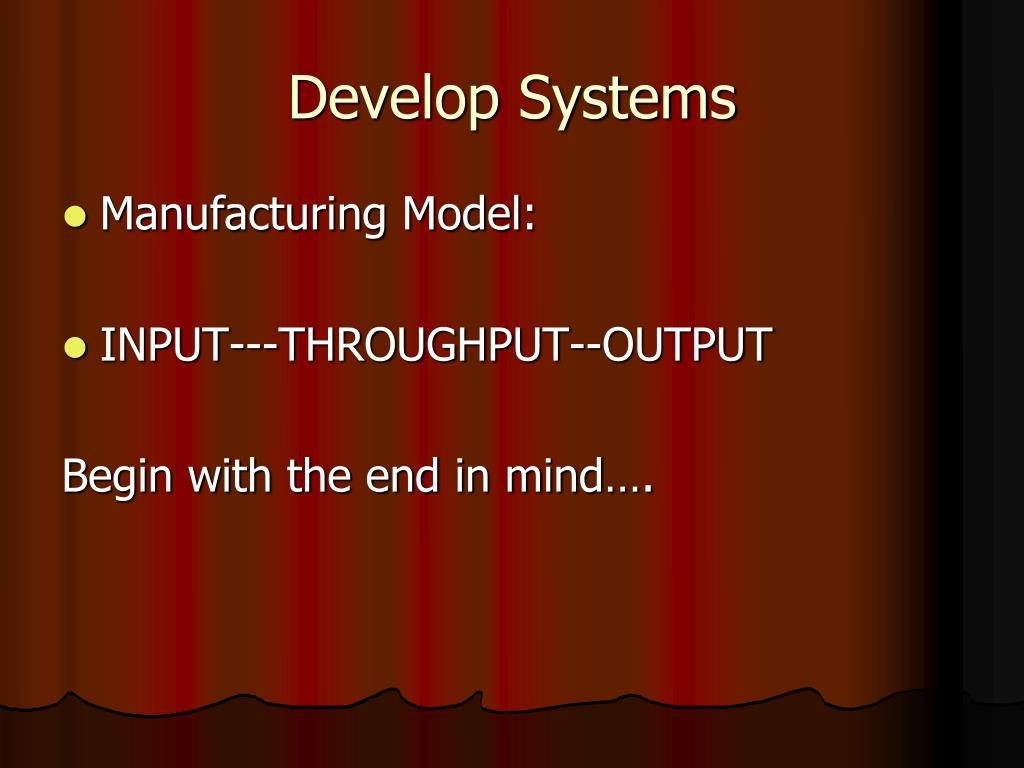 Develop Systems