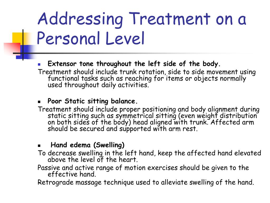 Addressing Treatment on a Personal Level