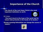 importance of the church