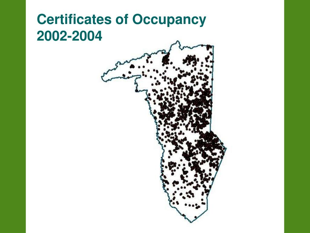 Certificates of Occupancy