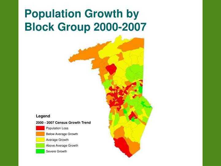 Population Growth by Block Group 2000-2007