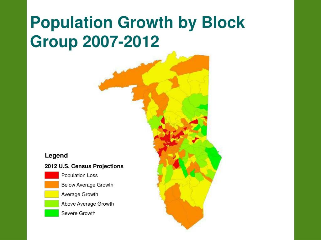 Population Growth by Block Group 2007-2012