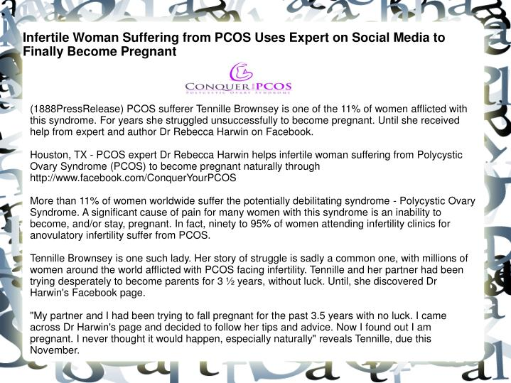 Infertile Woman Suffering from PCOS Uses Expert on Social Media to Finally Become Pregnant