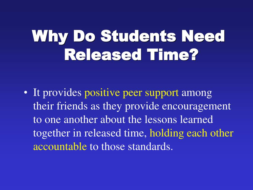 Why Do Students Need