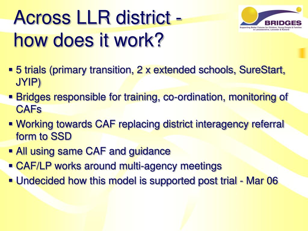 Across LLR district -