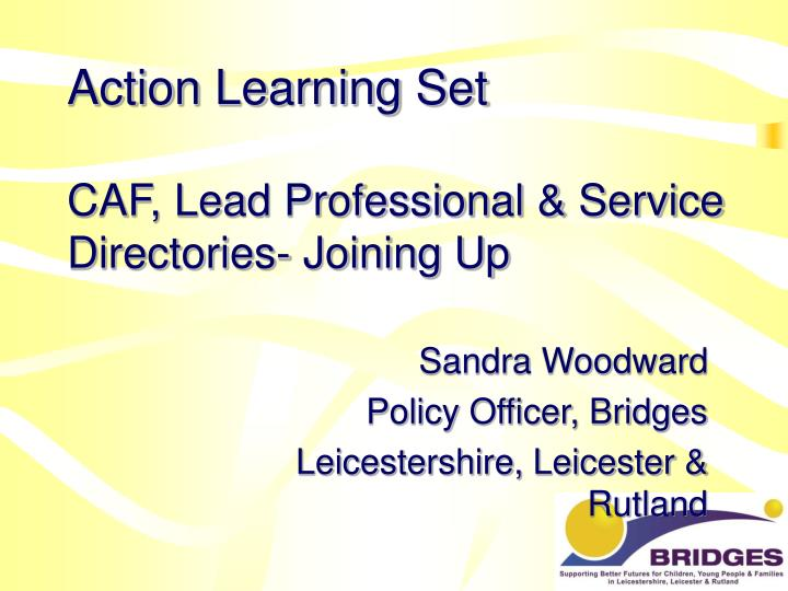 Action learning set caf lead professional service directories joining up