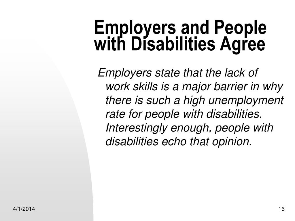 Employers and People with Disabilities Agree