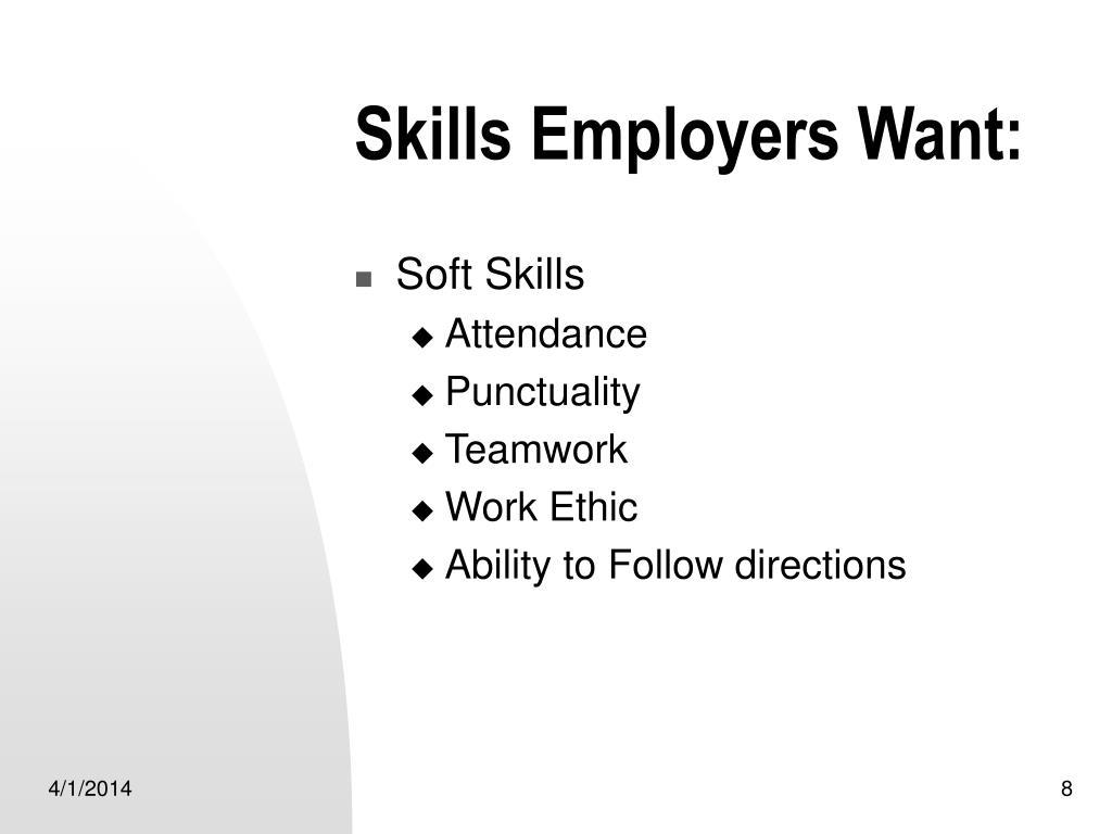 Skills Employers Want:
