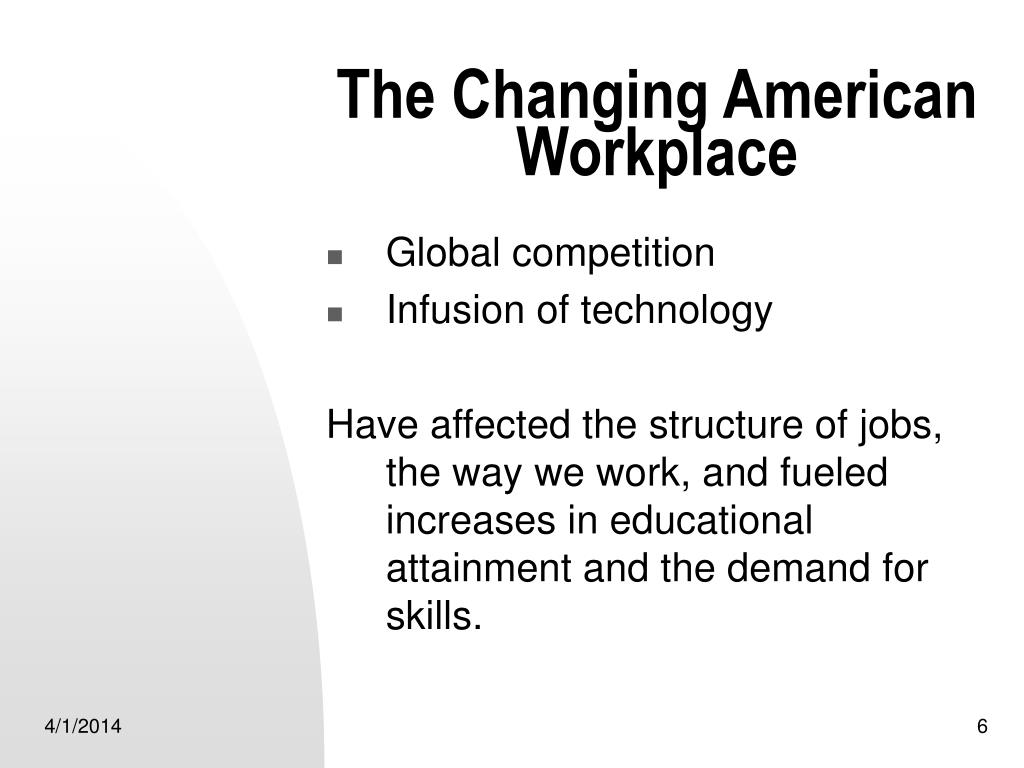 The Changing American Workplace