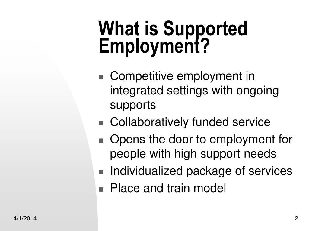 What is Supported Employment?