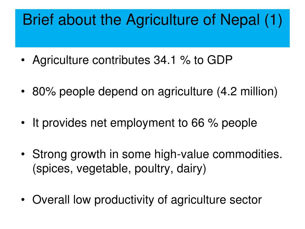 Brief about the Agriculture of Nepal (1)