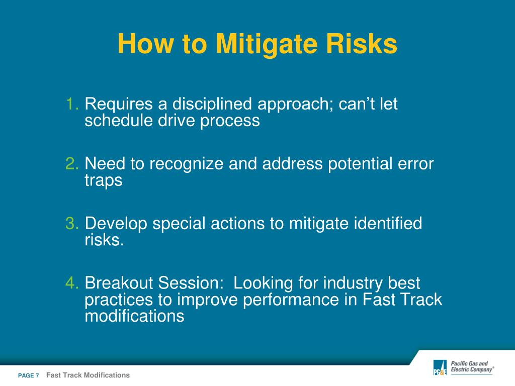 How to Mitigate Risks