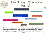 data mining what s in a name