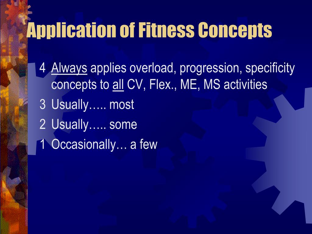Application of Fitness Concepts