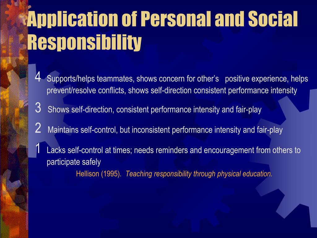 Application of Personal and Social Responsibility