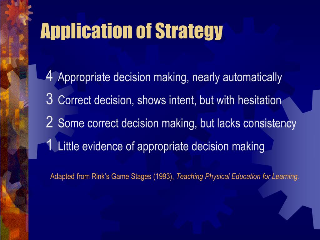 Application of Strategy