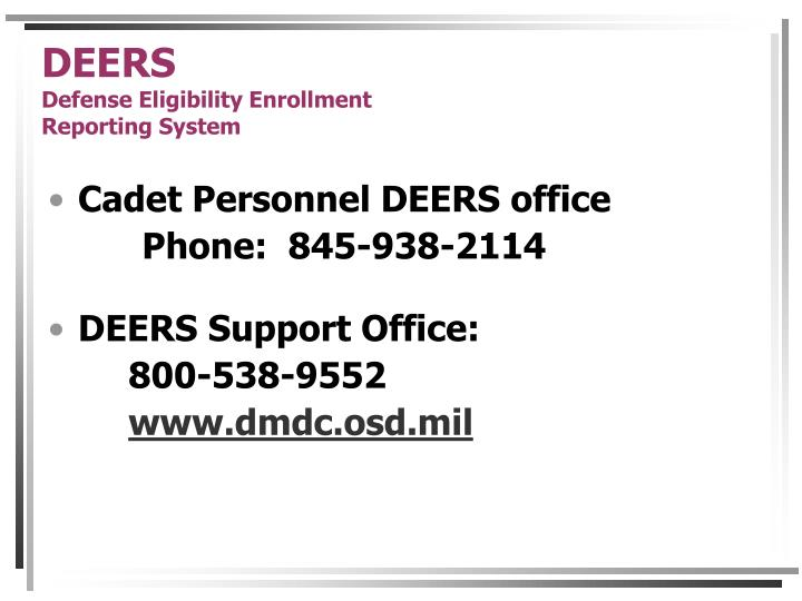 Deers defense eligibility enrollment reporting system3