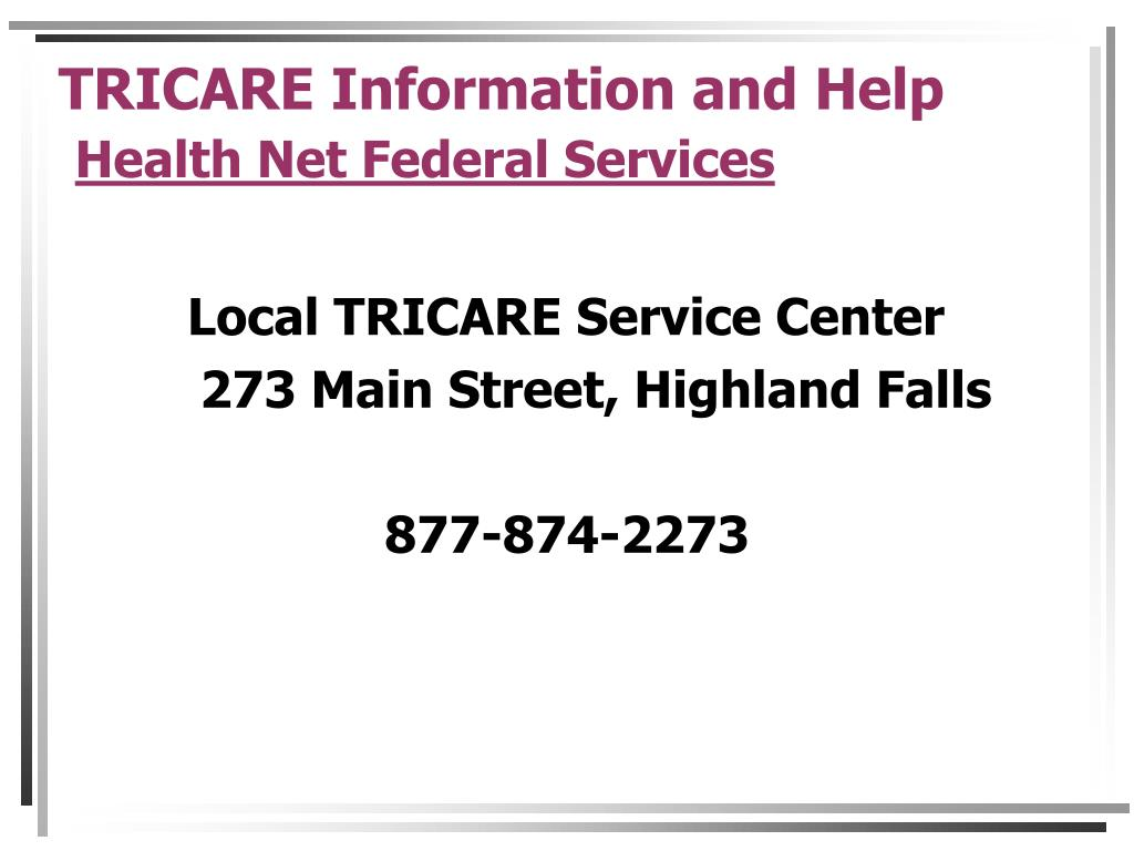 TRICARE Information and Help