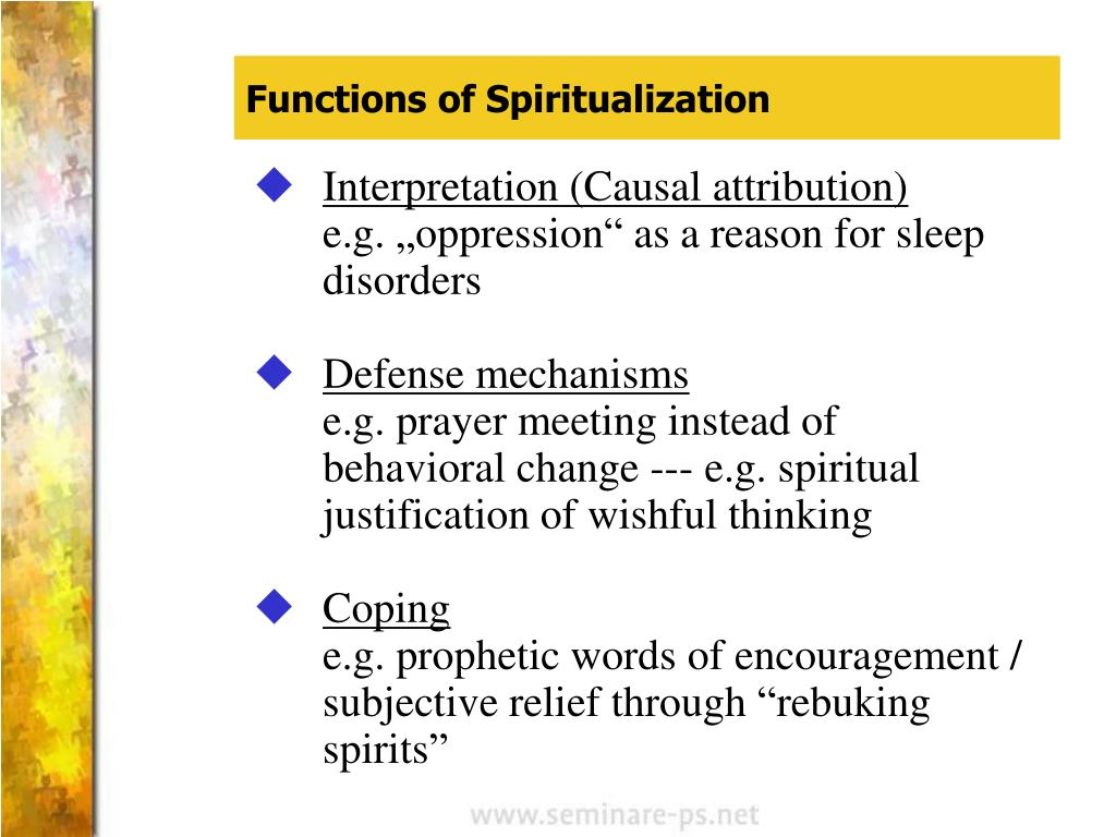 Functions of Spiritualization