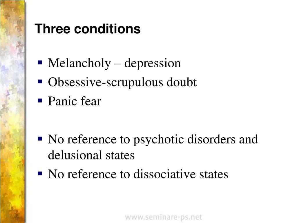 Three conditions