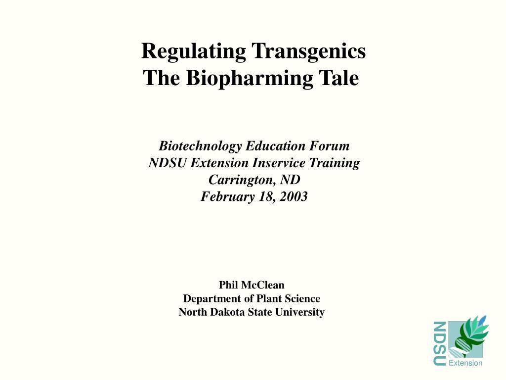 Regulating Transgenics