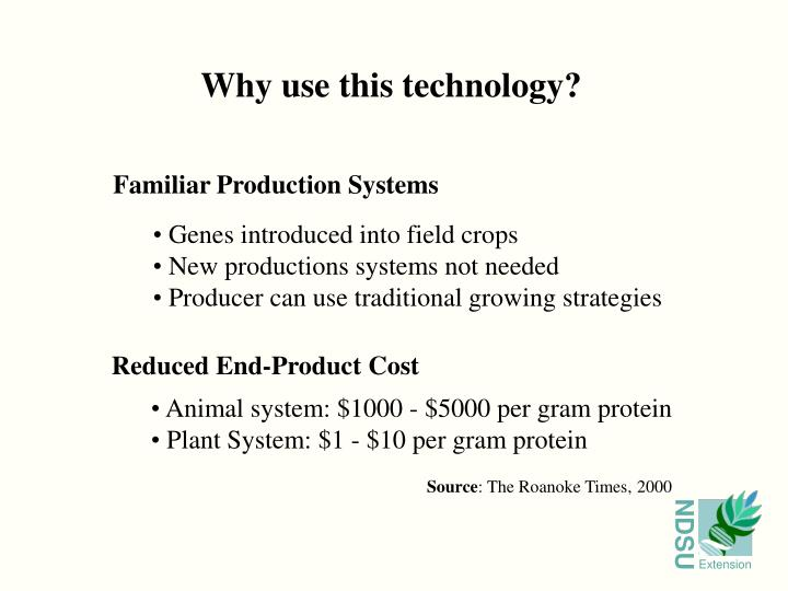 Why use this technology?