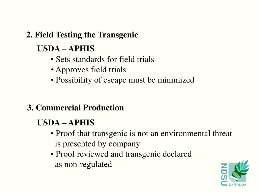 2. Field Testing the Transgenic