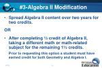 3 algebra ii modification