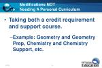 modifications not needing a personal curriculum23